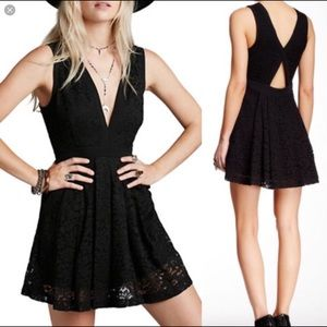 Free people Lovely in Lace black dress Size:XS